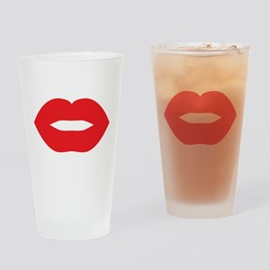 Red Hot Lips Drinking Glass