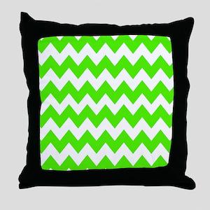 Shades of Green Chevron Throw Pillow
