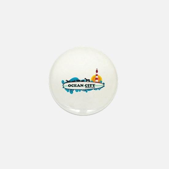 Ocean City MD - Surf Design. Mini Button