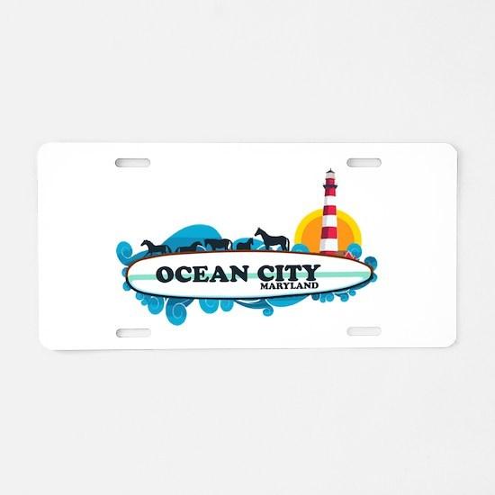 Ocean City MD - Surf Design. Aluminum License Plat