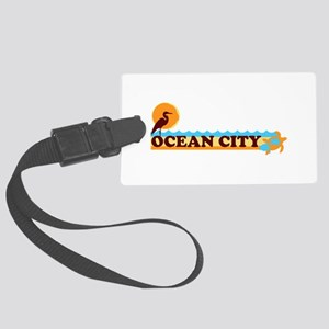 Ocean City MD - Beach Design. Large Luggage Tag