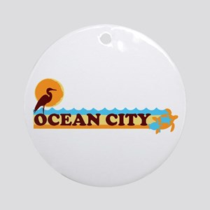 Ocean City MD - Beach Design. Ornament (Round)
