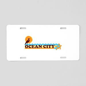 Ocean City MD - Beach Design. Aluminum License Pla