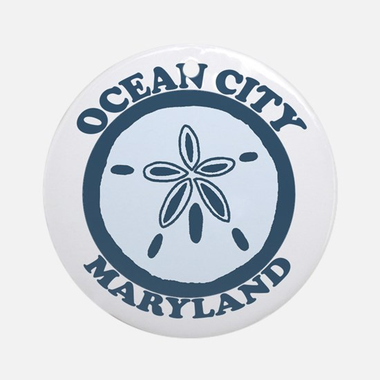 Ocean City MD - Sand Dollar Design. Ornament (Roun