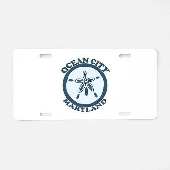 Ocean City MD - Sand Dollar Design. Aluminum Licen
