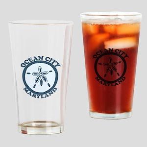 Ocean City MD - Sand Dollar Design. Drinking Glass