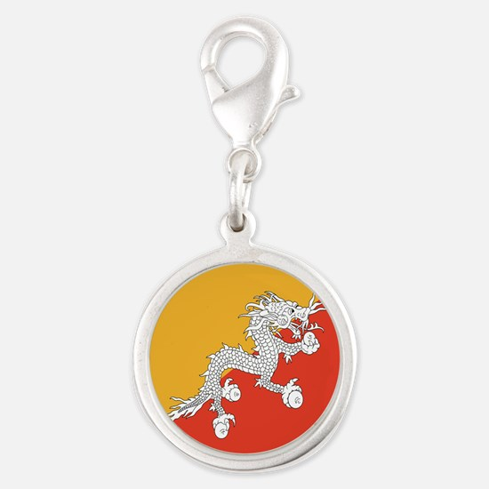 Bhutan Silver Round Charm