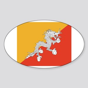 Bhutan Sticker (Oval)