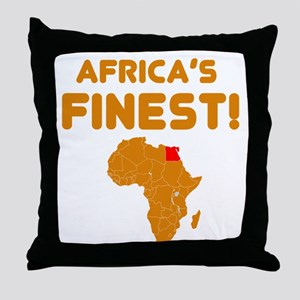 Egypt map Of africa Designs Throw Pillow