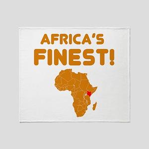 Kenya map Of africa Designs Throw Blanket