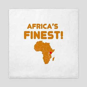 Kenya map Of africa Designs Queen Duvet