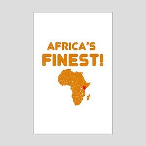 Kenya map Of africa Designs Mini Poster Print