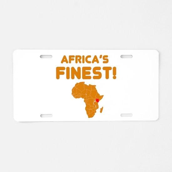 Kenya map Of africa Designs Aluminum License Plate