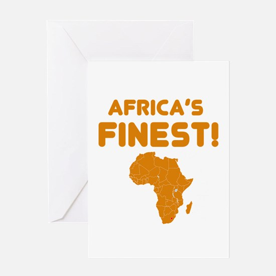 Lesotho map Of africa Designs Greeting Card