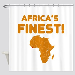 Liberia map Of africa Designs Shower Curtain