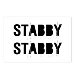 Stabby Postcards (Package of 8)