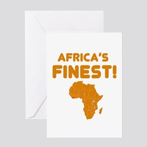 Liberia map Of africa Designs Greeting Card