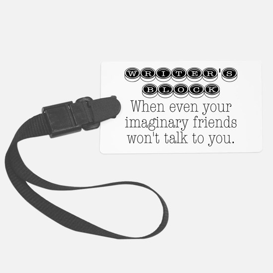 Writers Block Luggage Tag