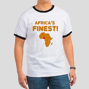Nigeria map Of africa Designs Ringer T