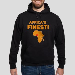 Nigeria map Of africa Designs Hoodie (dark)