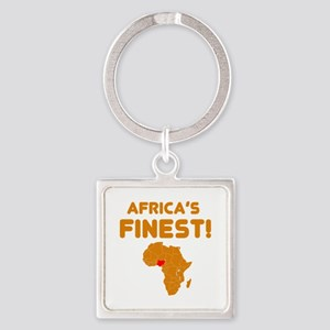 Nigeria map Of africa Designs Square Keychain