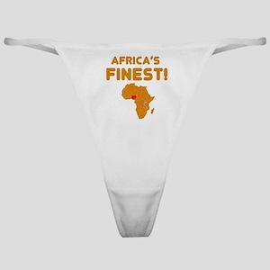 Nigeria map Of africa Designs Classic Thong