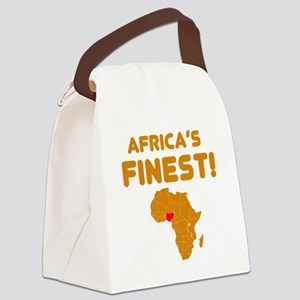 Nigeria map Of africa Designs Canvas Lunch Bag