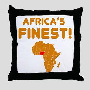 Nigeria map Of africa Designs Throw Pillow
