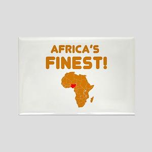 Nigeria map Of africa Designs Rectangle Magnet