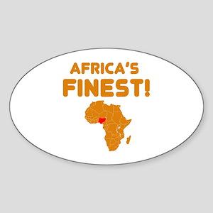 Nigeria map Of africa Designs Sticker (Oval)