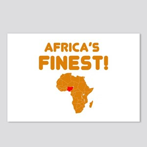 Nigeria map Of africa Designs Postcards (Package o