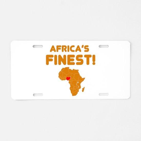 Nigeria map Of africa Designs Aluminum License Pla