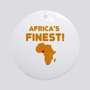 Nigeria map Of africa Designs Ornament (Round)