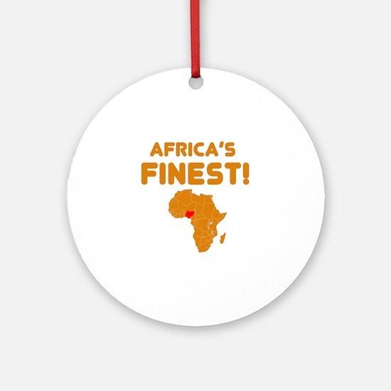 Nigeria map Of africa Designs Ornament (Round)