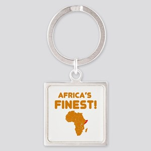 Somalia map Of africa Designs Square Keychain