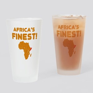 Somalia map Of africa Designs Drinking Glass
