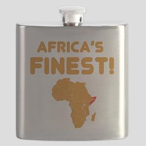Somalia map Of africa Designs Flask