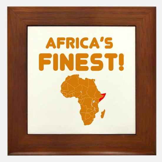 Somalia map Of africa Designs Framed Tile