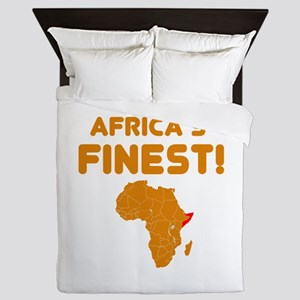 Somalia map Of africa Designs Queen Duvet