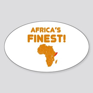 Somalia map Of africa Designs Sticker (Oval)