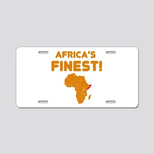 Somalia map Of africa Designs Aluminum License Pla