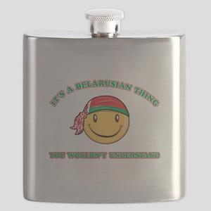 Belarusian Smiley Designs Flask