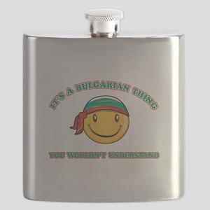 Bulgarian Smiley Designs Flask