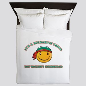 Bulgarian Smiley Designs Queen Duvet