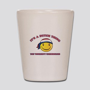 Dutch Smiley Designs Shot Glass