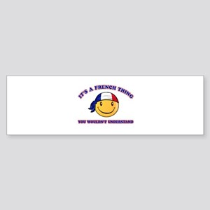French Smiley Designs Sticker (Bumper)