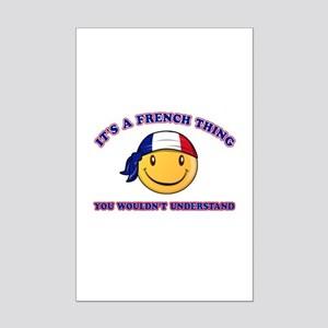 French Smiley Designs Mini Poster Print