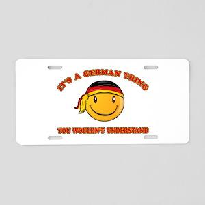 German Smiley Designs Aluminum License Plate