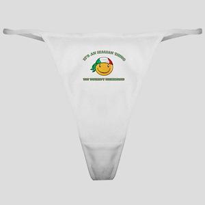 Italian Smiley Designs Classic Thong