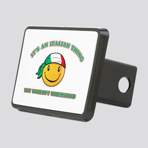 Italian Smiley Designs Rectangular Hitch Cover